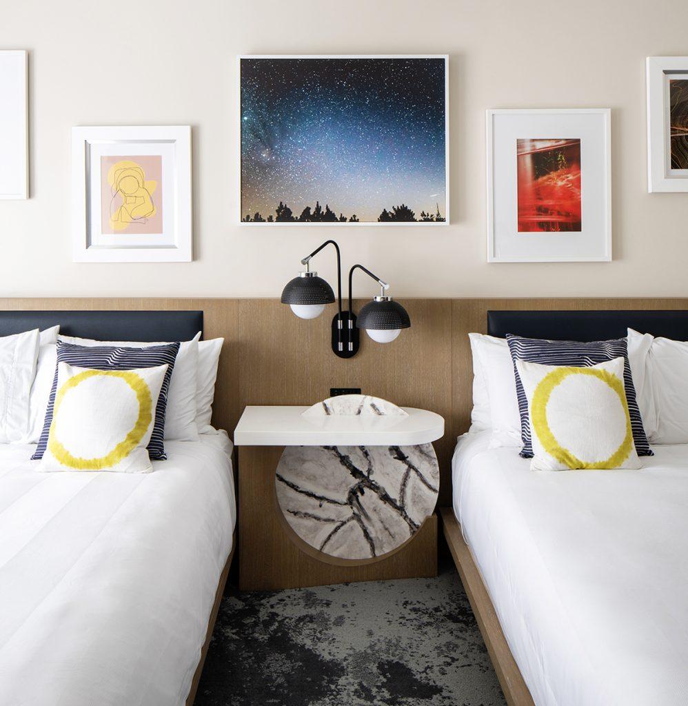 Celeste Hotel Double Queen Between Bed